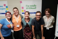Ms Baker, Ms White, Ms Wilson, Mr Troy and Ms Young at the AVID Conference